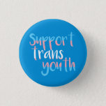 "Support Trans Youth Badge Pinback Button<br><div class=""desc"">Support trans youth! All proceeds to GenderJam NI,  registered charity NIC102201.</div>"