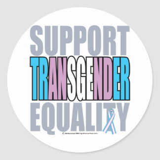 Support Transgender Equality Round Stickers