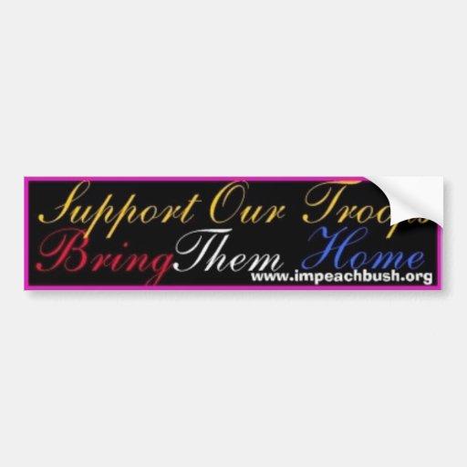 support_troops_impeach1 pegatina de parachoque