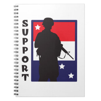 SUPPORT TROOPS SPIRAL NOTEBOOK