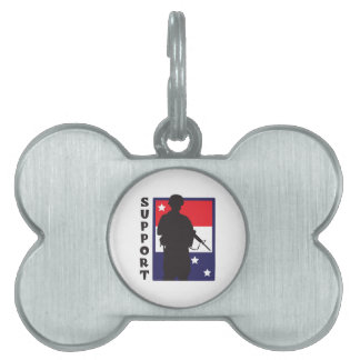 SUPPORT TROOPS PET NAME TAGS