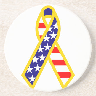 Support Troops Ribbon Drink Coaster