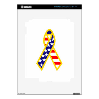 Support Troops Ribbon Skin For iPad 3