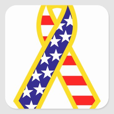 Support Troops Ribbon Square Sticker