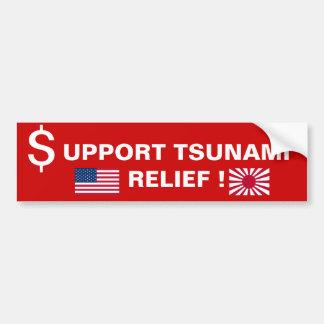 SUPPORT TSUNAMI RELIEF ! BUMPER STICKER