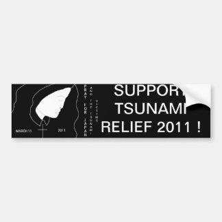SUPPORT TSUNAMI RELIEF BUMPER STICKER