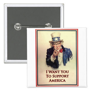 Support Uncle Sam Poster Pin