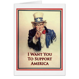 Support Uncle Sam Poster Card