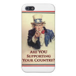 Support Uncle Sam Poster Cases For iPhone 5