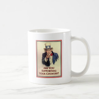 Support Uncle Sam Poster Classic White Coffee Mug
