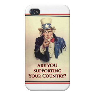 Support Uncle Sam Poster Case For iPhone 4