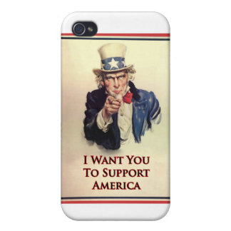 Support Uncle Sam Poster Cases For iPhone 4