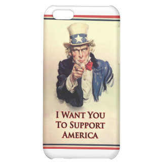 Support Uncle Sam Poster Case For iPhone 5C