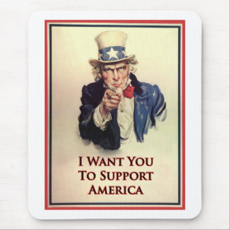 Support Uncle Sam Poster Mouse Pad
