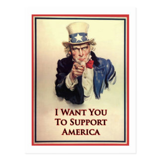 Support Uncle Sam Poster Postcard
