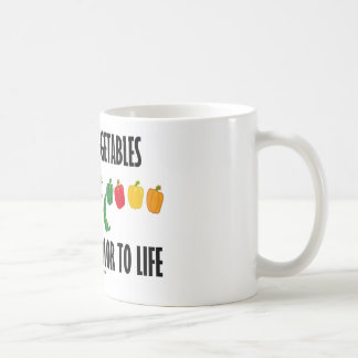 Support Vegetables They Bring Color To Life Classic White Coffee Mug