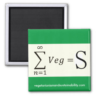 Support VegS Square Magnet 2 Inch Square Magnet