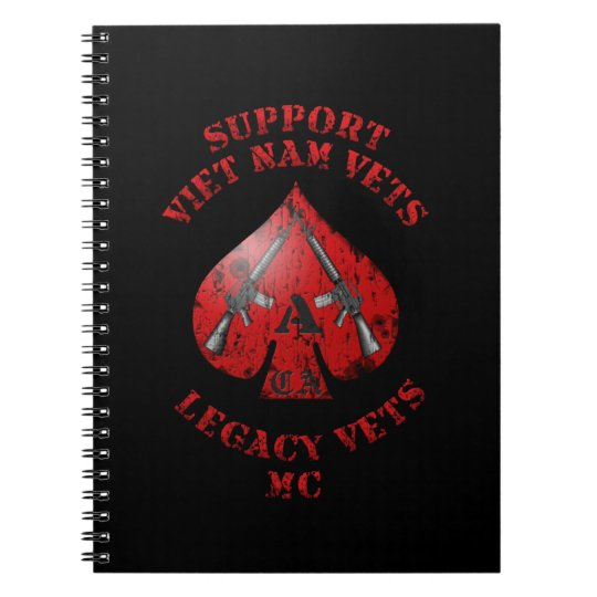 Support Viet Nam / Legacy Vets MC Binder with Logo Spiral Notebook