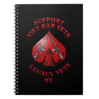 Support Viet Nam / Legacy Vets MC Binder with Logo Spiral Notebooks