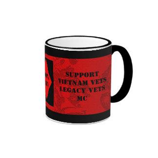 Support Vietnam / Legacy Vets MC Cup Ringer Coffee Mug