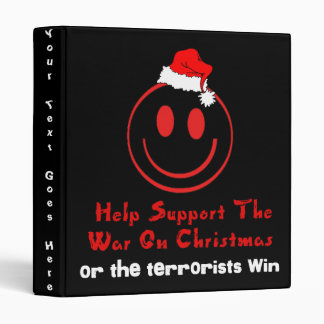 Support War on Christmas 3 Ring Binder