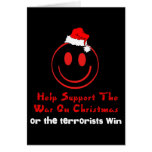 Support War on Christmas Greeting Card