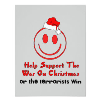 Support War on Christmas 4.25x5.5 Paper Invitation Card