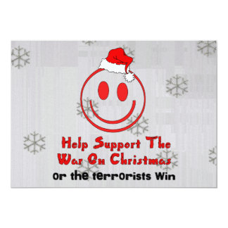 Support War On Christmas 5x7 Paper Invitation Card