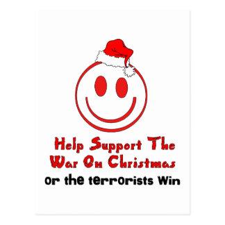 Support War on Christmas Postcard