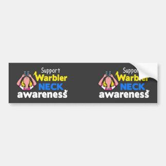 Support Warbler Neck Awareness Bumper Sticker