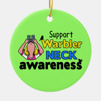 Support Warbler Neck Awareness Ceramic Ornament