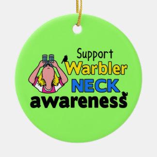 Support Warbler Neck Awareness Ceramic Ornament