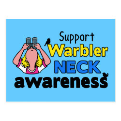 Postcard with Support Warbler Neck Awareness design