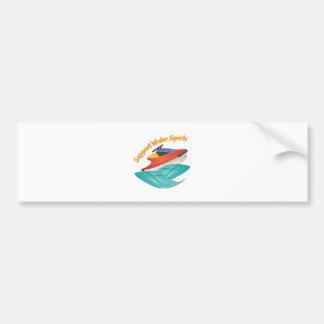 Support Water Sports Car Bumper Sticker