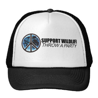 Support Wildlife. Throw a party. Mesh Hats