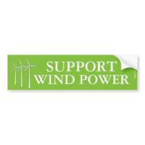 Support Wind Power Bumper Sticker