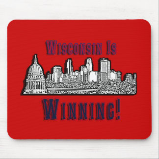 """Support  """"Winning""""  Wisconsin Protesters Mouse Pad"""