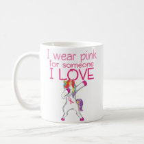 Support Women Breast Cancer Awareness Pink Ribbon Coffee Mug