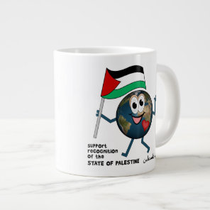 Support world recognition of the state of Palestin Large Coffee Mug
