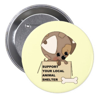Support Your Animal Shelter Button
