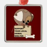 Support Your Animal Shelter Christmas Ornaments