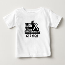 Support Your Dad & Raise Awareness for Lung Cancer Baby T-Shirt