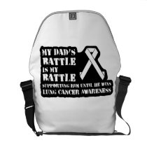 Support Your Dad & Raise Awareness for Lung Cancer Courier Bag