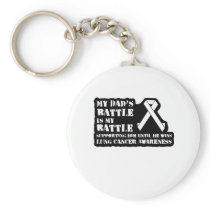 Support Your Dad & Raise Awareness for Lung Cancer Keychain