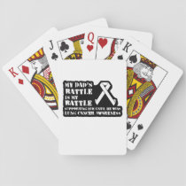 Support Your Dad & Raise Awareness for Lung Cancer Playing Cards