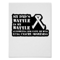 Support Your Dad & Raise Awareness for Lung Cancer Poster
