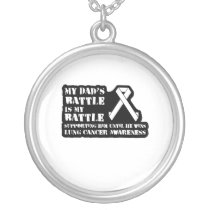 Support Your Dad & Raise Awareness for Lung Cancer Silver Plated Necklace