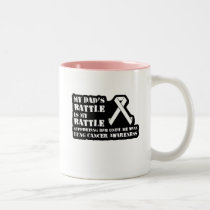 Support Your Dad & Raise Awareness for Lung Cancer Two-Tone Coffee Mug