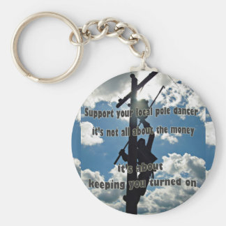 Support your Lineman Keychain