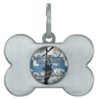 Support your Lineman Pet Name Tag